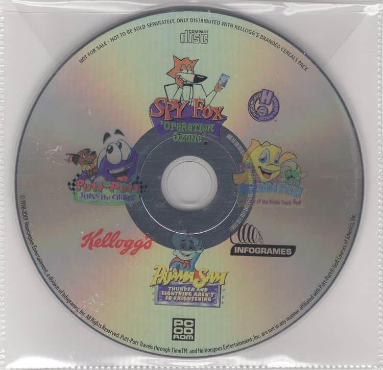 Kellogg's Spilpakke (Spy Fox, Putt-Putt, Freddi Fish, Pajama Sam)