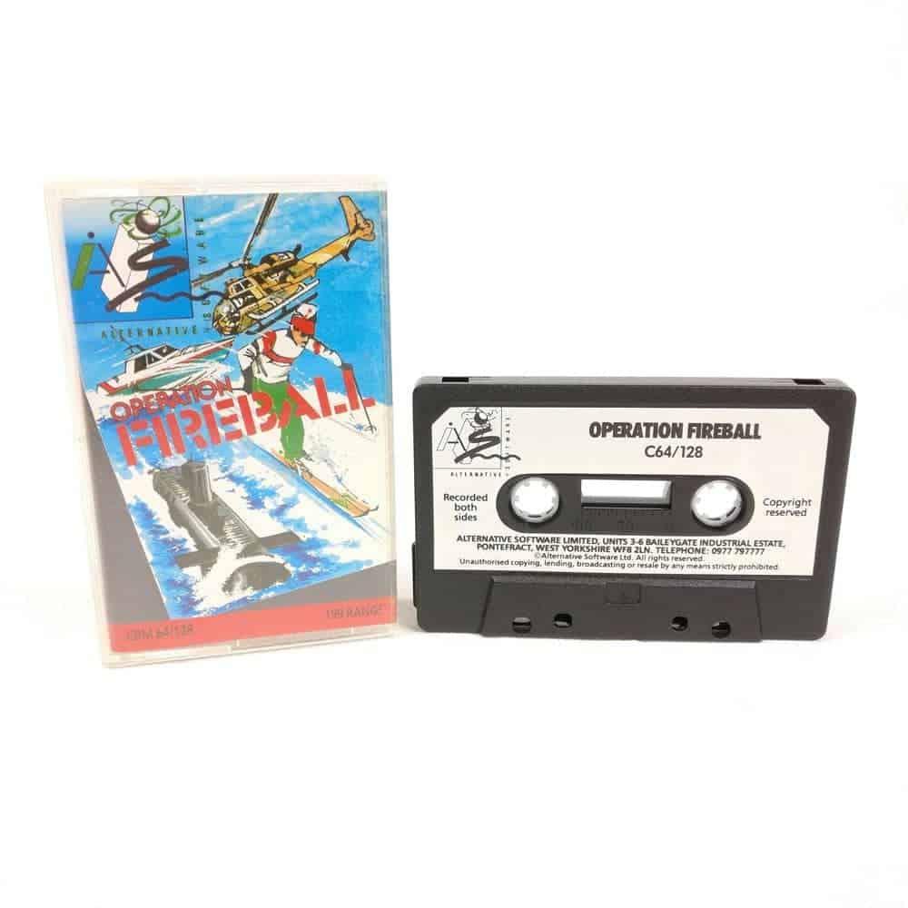 Operation Fireball (Commodore 64 Cassette)