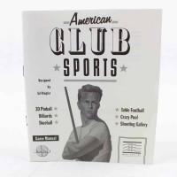 American Club Sports (Commodore 64 manual)