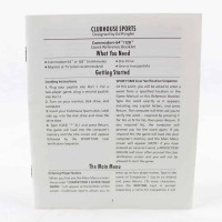 Clubhouse Sports (Commodore 64 manual)
