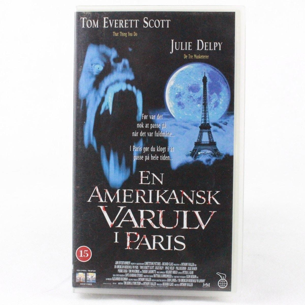 En Amerikansk Varulv i Paris (VHS)