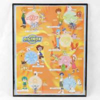 Digimon plakat med Matt, Izzy, Sora, Tai, Mimi T.K, Joe – inkl. ramme